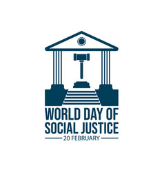 World day social justice image vector