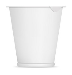 yogurt white box mockup realistic style vector image