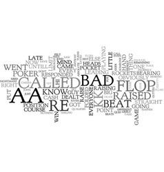 Aa v kk bad beat text word cloud concept vector