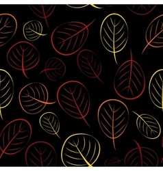 Autumn Leaves Seamless Pattern Background vector image vector image
