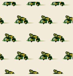 cute camo mice design seamless pattern vector image vector image