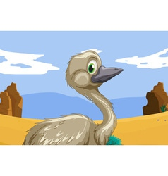 emu in the outback vector image vector image