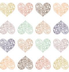 HeartWords1 vector image