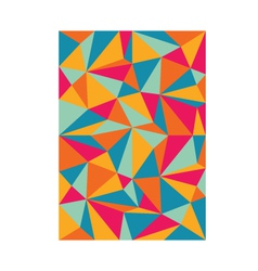pattern triangles colorful background vector image