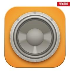 Realistic sound load Speaker icon vector image