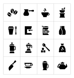 Set icons of coffee vector image
