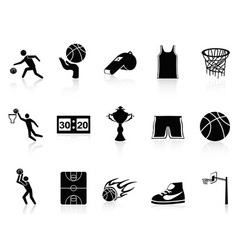 Basketball Icons set vector image vector image