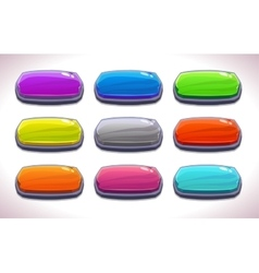 Funny cartoon colorful long horizontal buttons vector image vector image