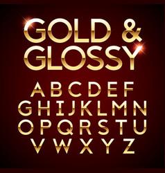 gold and glossy shining font vector image vector image