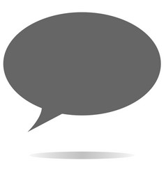 Gray speech bubble icon on white background vector
