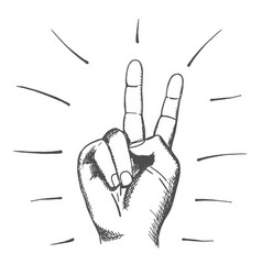 hand drawn human sign of peace vector image
