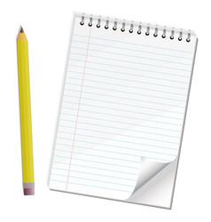 note paper pencil vector image vector image
