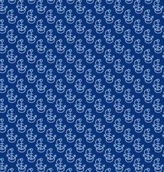 seamless anchors and rope pattern vector image vector image