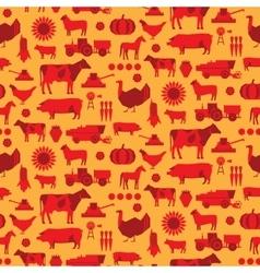 Seamless farm pattern vector image