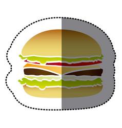 hamburger fast food icon vector image