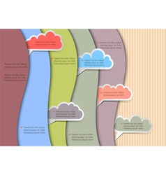 Paper background with clouds for speech vector image vector image