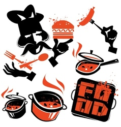 cooking logo design template kitchen or vector image vector image