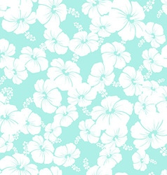 Hawaiian Seamless Pattern with hibiscus flowers vector image vector image