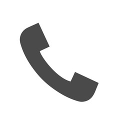 phone call solid icon vector image vector image