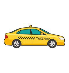 taxi car icon flat line pop vector image vector image