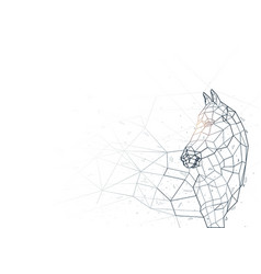 abstract horse low poly wireframe vector image