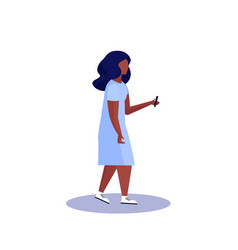 African american woman profile isolated using vector