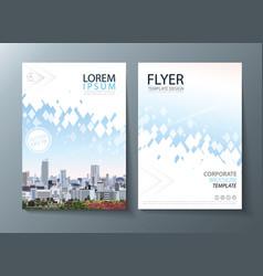 Annual report brochure flyer design leaflet vector