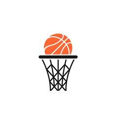 Basket and ball logo vector