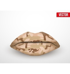 Beautiful luscious lips Camo texture vector