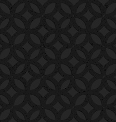 Black textured plastic irregular grid with circles vector