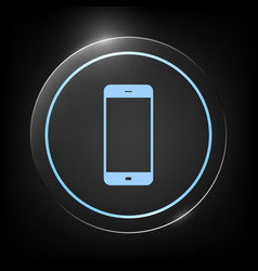 business phone with blank screen vector image