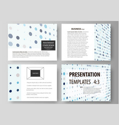 Business templates for presentation slides easy vector