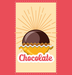 chocolate concept design vector image