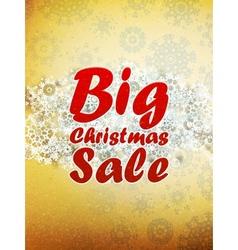 Christmas retro Big Sale with copy space vector image