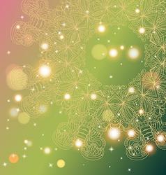 Circle mandala lace hand-drawn kaleidoscope vector image