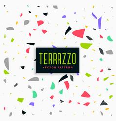 colorful terrazzo pattern background design vector image