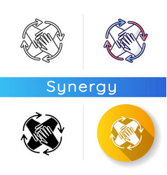 community involvement icon vector image