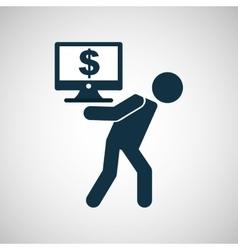 Crisis economy concept icon design vector