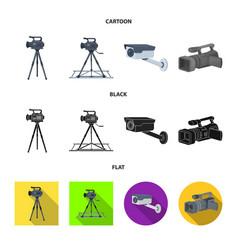 Design camcorder and camera icon vector