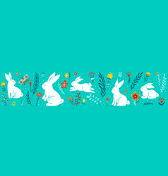 easter seamless border vector image