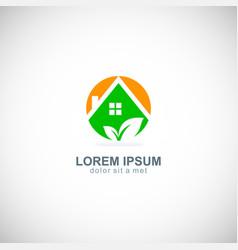 Ecology green house logo vector