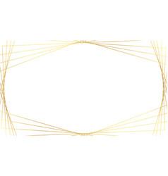 elegant golden geometric lines on white background vector image