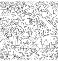 endless office pattern vector image