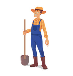 farmer vector image