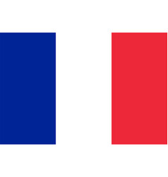 flag of france in official rate and colors vector image