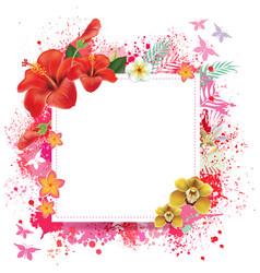 Floral card with place for text vector