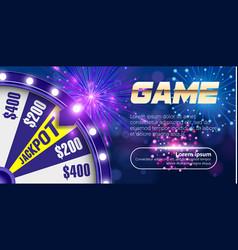 fortune wheel online casino design concept vector image