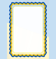Frame and border of ribbon with ukraine flag vector