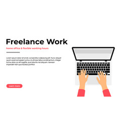 freelancer working at home on laptop work at home vector image