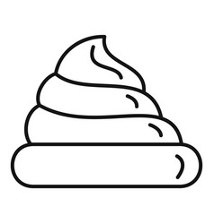fresh meringue icon outline style vector image